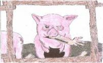 """Inspired By """"Breakfast Of Champions"""" drawn by Schuylkill County Artist Bill Fisher"""