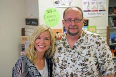 "Me with fellow horror author Catherine Jordan. Cathy wrote the chilling, ""Seeking Samiel"""