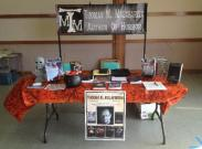 Table set up and ready to go.