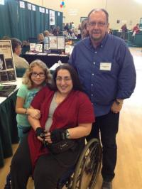 With new friend and reader Michelle and her daughter.